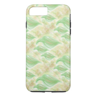 Soft green leafs pattern on a phone case