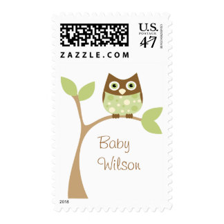 Soft Green Owl Baby Postage