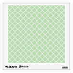 Soft Green Quatrefoil Wall Skins