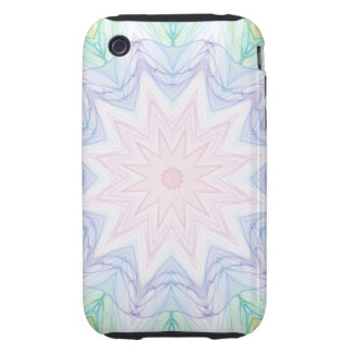 Soft Green Rainbow Tough iPhone 3 Cases
