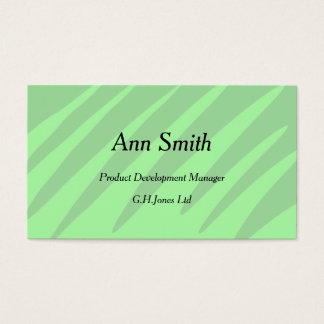 Soft green shades design business cards