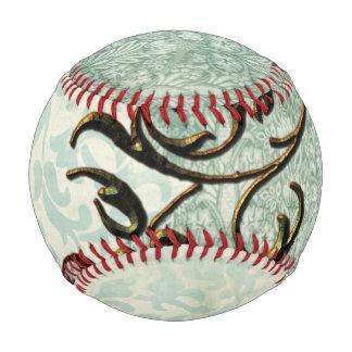 Soft green vintage baseball