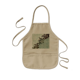 Soft green vintage design kids' apron