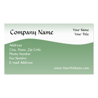 Soft Green Wave Business Card, Design Online Double-Sided Standard Business Cards (Pack Of 100)