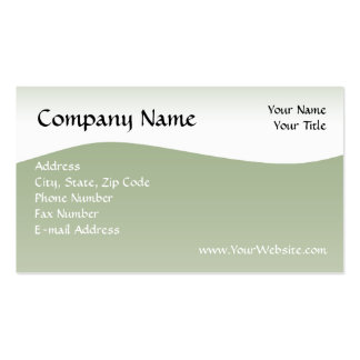 Soft Green Wave Business Card, Design Online