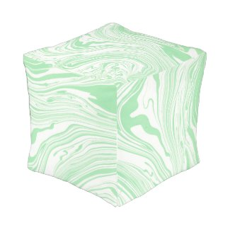 Soft green & White Colors Marble Swirls