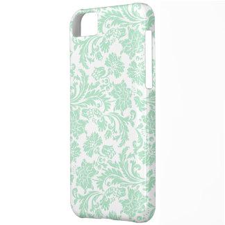 Soft Green & White Vintage Floral Damasks iPhone 5C Cover