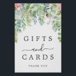 """Soft Greenery Gifts and Cards Sign<br><div class=""""desc"""">Help your guests easily find the gift table with this lovely sign!</div>"""