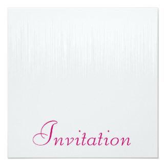 Soft Grey Static Rasberry All Events 5.25x5.25 Square Paper Invitation Card