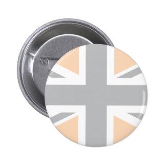 soft Grey Union Jack British UK Flag Buttons