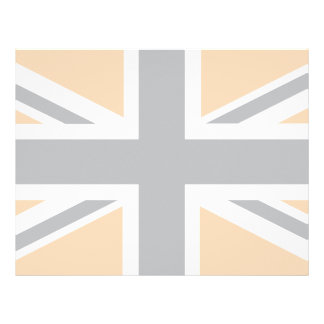 soft Grey Union Jack British(UK) Flag Letterhead