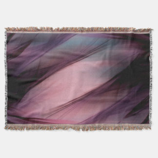 Soft Hazy Mauve Abstract Throw Blanket