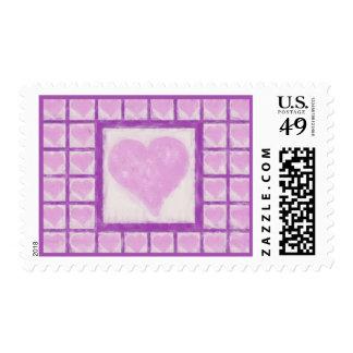 Soft Hearts Postage Stamp