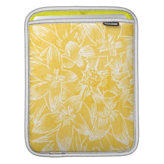 Soft  Hibiscus Lemon Yellow Floral Botanical iPad Sleeve