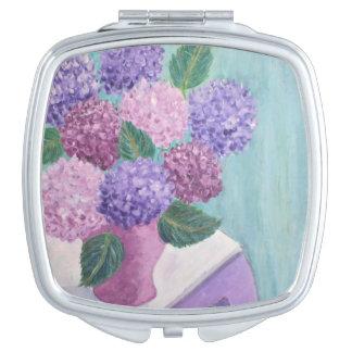 Soft Hydrangea Vanity Mirror