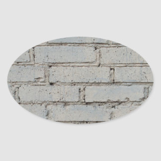 Soft image of a background of gray brick wall oval sticker