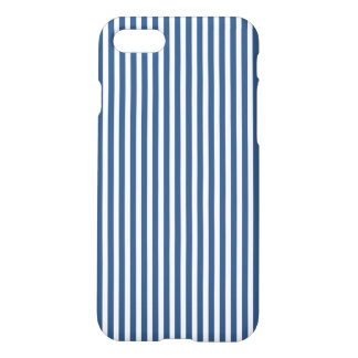 Soft Iris Blue and White Cabana Stripe Pattern iPhone 8/7 Case