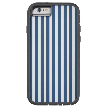 Aztec Themed Soft Iris Blue and White Cabana Stripe Pattern Tough Xtreme iPhone 6 Case