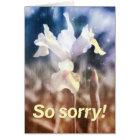 Soft iris seen through rain card
