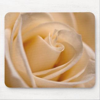 Soft Ivory Rose Mouse Pad
