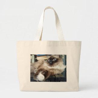 soft kitty warm canvas bag