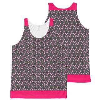 Soft Laurel (Gr/Pink Trim) All-Over Print Tank Top