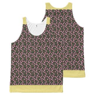 Soft Laurel (Yellow Trim) All-Over Print Tank Top