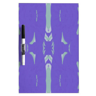 Soft Lavender Mint Green Artsy Pattern Dry-Erase Board
