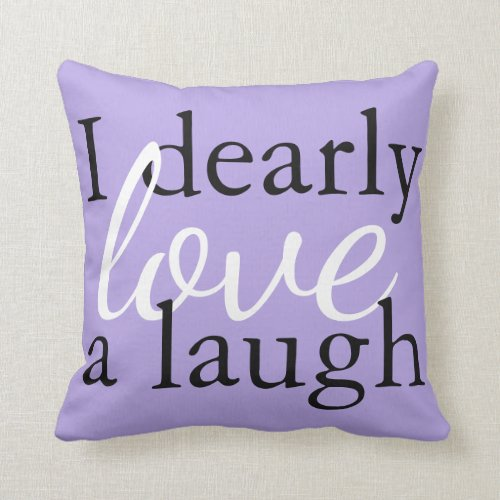 Soft Lavender Purple Pillow Jane Austen Book Quote