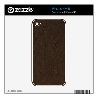 Soft Leather Print Skin For iPhone 4