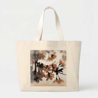 Soft Light Peach Personalized Tote Bag