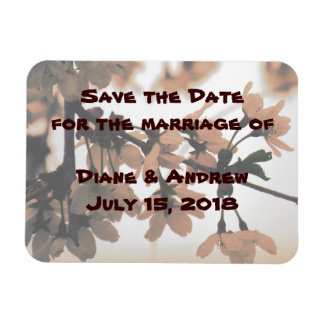 Soft Light Peach Save the Date Magnets