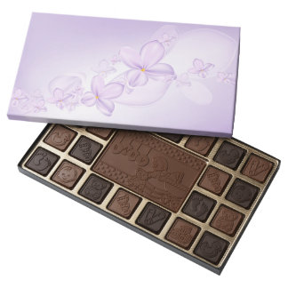 Soft Lilac Flowers Chocolate Box