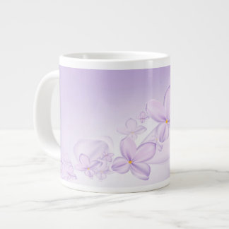Soft Lilac Flowers Jumbo Mug