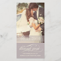 SOFT LILAC SCRIPT THANKS | WEDDING THANK YOU CARD