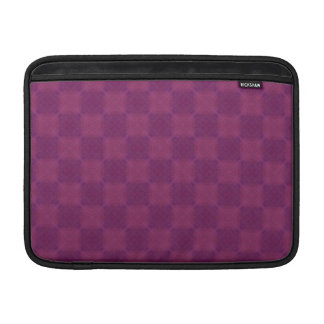 "Soft Magenta Checks 13"" Sleeves For MacBook Air"