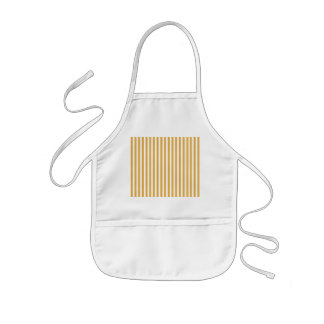 Soft Marigold Yellow Cabana Stripe Kids' Apron