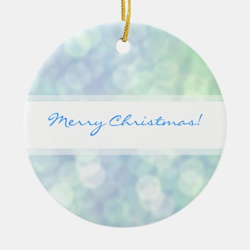 Soft matt sparkles Blue Christmas ornament