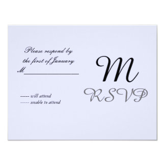 Soft Mauve Initial Reply Card