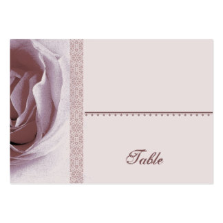 Soft Mauve Pink Rose Place Card - Wedding Party