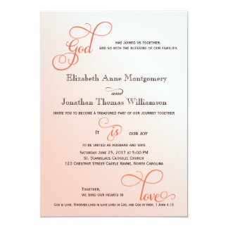 5 x 7 vertical christian wedding invitations zazzle for Wedding cards god images