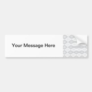 Soft Metallic Pattern in Silver Colors Car Bumper Sticker