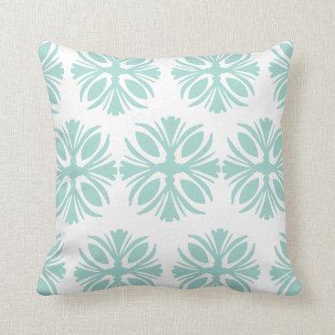Beach Themed Soft Mint Green Toss Cushion
