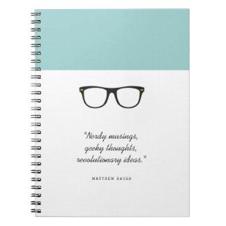 Soft Mint Wayfarer Glasses Notebook