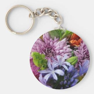 Soft mix flowers keychain