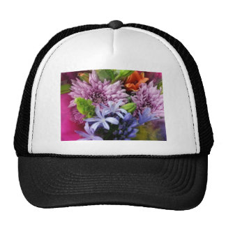 Soft mix flowers trucker hat