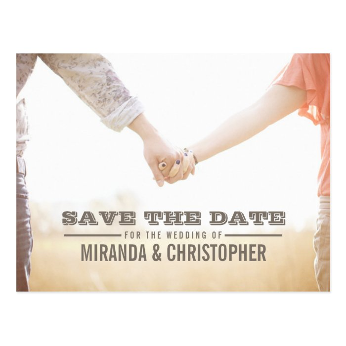 Soft Modern Wedding Save the Date Photo Postcard