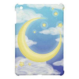 Soft Moon on Blue iPad Mini Cases