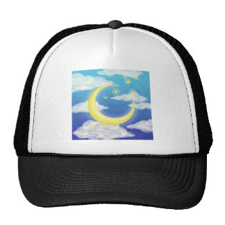 Soft Moon on Blue Trucker Hat