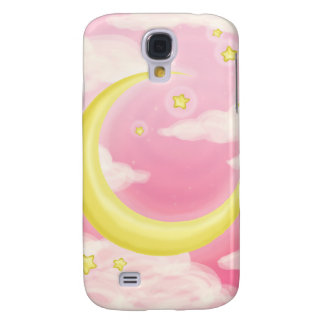 Soft Moon on Pink Galaxy S4 Case